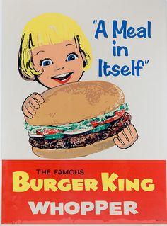 Vintage Burger King Poster