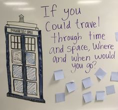 Time Travel Tuesday past or future: could ask open ended question historical event fture technology etc. The post Time Travel Tuesday past or future: could ask open ended question historical appeared first on Tecnology. Morning Activities, Writing Activities, Classroom Activities, Classroom Quotes, School Classroom, Journal Topics, Morning Board, Daily Writing Prompts, Bell Work