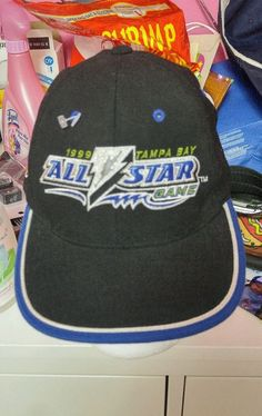 Vintage Pro Player Tampa Bay Lightning 1999 NHL All Star Game Hat Velrco Cap 8d20fa247