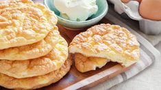 Cloud Bread, Lowest Carb Bread Recipe, Low Carb Bread, Pan Cetogénico, Pan Nube, How To Store Bread, Grain Free Bread, Bread Substitute, Bread Alternatives