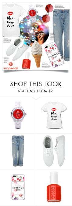 """""""happy day"""" by franceee ❤ liked on Polyvore featuring J Brand, Essie and INDIE HAIR"""