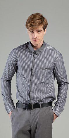 Camisa - Camisaria Cotton Supreme Fio 50 IX Des 8 e Camisaria Grafic #modamasculina #camisarias #listrados #filafil #formalstripes #elegancia