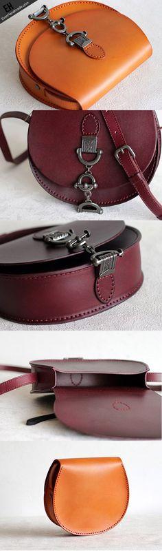 Handmade Leather vintage women leather shoulder bag crossbody
