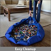 Lay-n-go for legos, or other toys... makes clean up EASY!