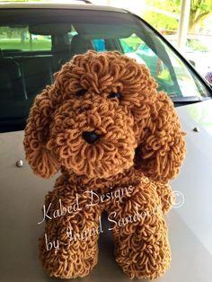 Miky the poodle crochet dog crochet amigurumi von KabedDesigns