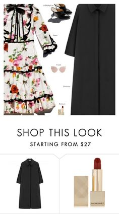 """""""Untitled #4028"""" by amberelb ❤ liked on Polyvore featuring Garance Doré, Non, Burberry and Fendi"""