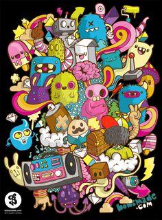 26 Adorable & Cute Doodle Artwork For Your Inspiration - Hongkiat Graffiti Art, Graffiti Doodles, Graffiti Wallpaper, Doodle Monster, Kawaii Doodles, Cute Doodles, Doodle Art Drawing, Art Drawings, Vexx Art