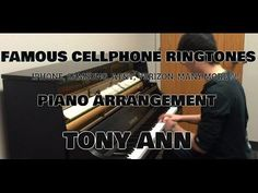 Famous cellphone ringtones played on the piano