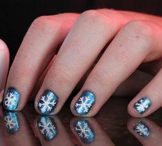 snowflake nails :)