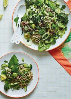 Hemsley + Hemsley's Green Goddess Noodle Salad Recipe - Viva