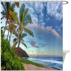 Palm Trees Shower Curtain 145R