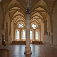 Réfectoire.Abbaye de Noirlac (Cher). Centre