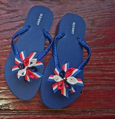 Memorial day or fourth of July flip flops