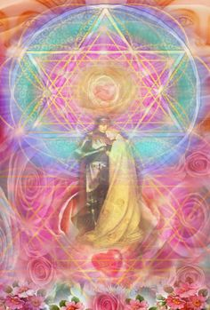 Sunlight Circle Sharings ~ A Visionary Journal: A Path of Heart ~ Activating the Twin Flame Union ~ In Planetary Service Tantra, Twin Flame Love, Twin Flames, Flame Art, Twin Souls, Visionary Art, Sacred Art, Art Pages, Images Gif