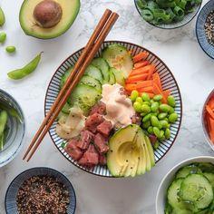 completamente. Después, refrigerarlo Poke Bowl, Hummus, Pizza, Pumpkin, Ethnic Recipes, Food, Tips, World, Fried Cheese Sticks