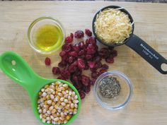 Ingredients for the Cranberry Parmesan Herbed Popcorn from my newest book S.A.S.S! Yourself Slim