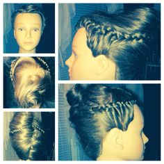 French Twist with French Braid Accents