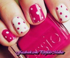 I'd like to figure out how to do these polka dots, pink and white like this or pink and yellow.