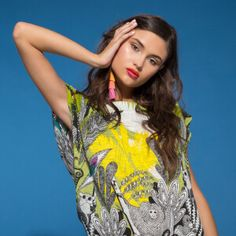 Now on eboutic. Green Spring Dresses, Red Indian, Indian Patterns, Pink Flowers, Purple, Color, Clothes, Beauty, Women