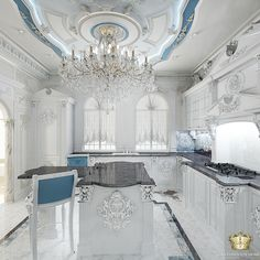 10 Must-Haves for a Luxury Kitchen Luxury Kitchen Design, Luxury Interior Design, Interior Exterior, Interior Decorating, Elegant Kitchens, Luxury Kitchens, Beautiful Kitchens, Rideaux Design, Plafond Design