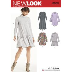 b15a5c72e32c Purchase New Look New Look Pattern 6525 Misses  Knit Dress and read its  pattern reviews