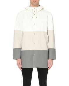 fd5aa87005 Men s Gray Stockholm Colour-block Rain Mac