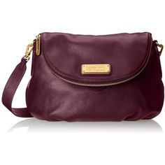 Marc by Marc Jacobs New Q Natasha Cross-Body Bag (4.043.000 IDR) ❤ liked on Polyvore featuring bags, handbags, shoulder bags, purple handbags, marc by marc jacobs handbags, crossbody shoulder bag, purple shoulder bag and purple cross body purse