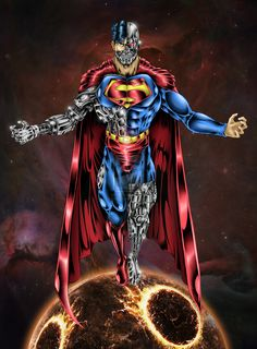 superman artwork | cyborg superman final by diego cobo digital art drawings paintings ...