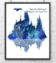 Hogwarts Castle Harry Potter Hogwarts Poster by gingerkidsart