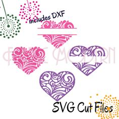 VALENTINE, Silhouette svg cutting file, monogram or name frame, svg, dxf and pdf, #C604 by FabricModern on Etsy