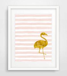 Foglio di oro stampa stampabile fenicottero vivaio stampa stampa artistica Blush oro stampa oro Stampa bambini camera Blush stampa oro Nursery Wall Art
