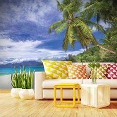 Spiaggia dei Caraibi Carta da Parati Autoadesiva