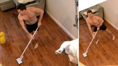Roommate dances (and cleans) like no one's watching — and gets caught