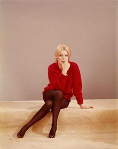 Portrait of Catherine Deneuve by Sam Levin, 1962 Jeanne Damas, Jane Birkin, Young Fashion, 1960s Fashion, Mod Fashion, Catherine Deneuve Young, French Actress, Schneider, In Pantyhose