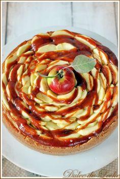 Dulce de Leche: Škoricovo jablkový cheesecake Russian Recipes, Jelly, Cheesecake, Breakfast, Ethnic Recipes, Blackberries, Food, Polish, Dulce De Leche
