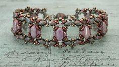 Linda's Crafty Inspirations: Bracelet of the Day: Ivy Bracelet Variation - Lavender & Nebula