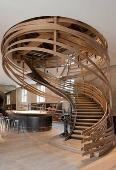 This staircase is in a restaurant but I want it in my home! Best Restaurant: Les Haras (France) / Jouin Manku The 2014 Restaurant & Bar Design Award winners.