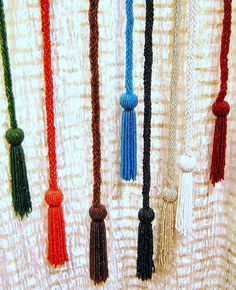 Wholesale Lot of 7 Glass Beaded Belts,Necklaces,Lariats or Curtain Tie Backs with Tassels