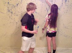 """(Open Rp, someone be him.) We have been best friends since 5th grade. I hated the color of my room, so I asked him if he wanted to help me paint. We started messing around just throwing the paint at the wall  then he said """"Brae, Brae look at me!"""" I turned around and he put paint on my face and kissed me..."""
