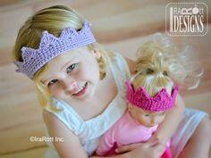 Free Crochet Pattern PDF Princess Crown by IraRott