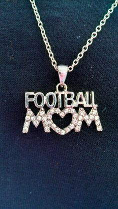 Football MOM Crystal Necklace by BackroadGraphics on Etsy, $10.00