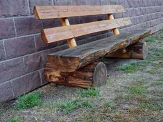 Indoor/outdoor log benches for sale. A log bench adds a great rustic look indoors our outdoors. Cedar Furniture, Rustic Outdoor Furniture, Garden Furniture, Outdoor Decor, Cabin Furniture, Western Furniture, Furniture Design, Rustic Outdoor Benches, Rustic Bench