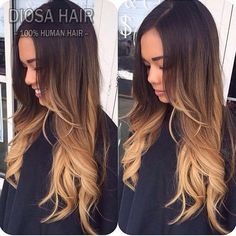 Diosa New Fashion 1B#T4#T27# Ombre Full Lace Wig Human Hair Three Tone Ombre Lace Front Wig, Brazilian Wavy Ombre U Part Wig
