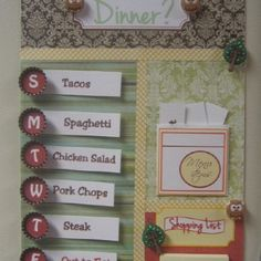 Magnetic menu board. Available at Toot Sweets.  Www.TootSweetsGifts.com