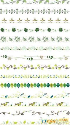 Practical plant lace borders vector design