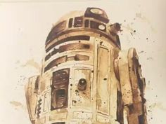 """Coffee and art are a perfect pairing for Maria Aristidou, an artist who makes incredible """"Star Wars"""" artwork using coffee instead of paint."""