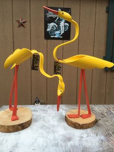 "Yellow ducks special order. 24"" & 17""."