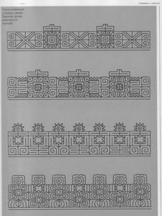 Indian Embroidery Designs, Embroidery Fabric, Embroidery Patterns, Fabric Rug, Fabric Painting, Drawing Borders, Blackwork Cross Stitch, Outline Designs, Neckline Designs