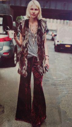 Fur and velvet
