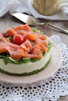 cheesecake salata al salmone anche Bimby antipasto facile